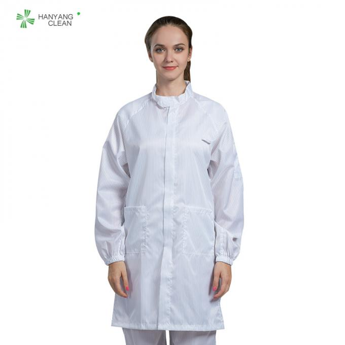 Anti Static ESD Garment Resuable Class1000 straight open zipper stand collar durable small  in SMT Workshop
