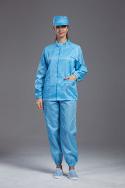 China Multi Color Food Production Uniform With Zipper Stand Collar Jacket And Pants factory