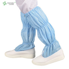 China Unisex Cleanroom Anti Static Booties Breathable For Electronic Industry factory