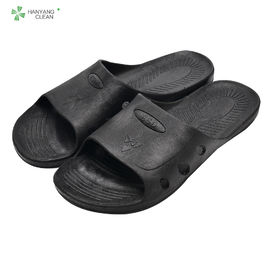 China Hard Fold SPU ESD Cleanroom Shoes , Anti Static Slippers For Enterprise Units factory