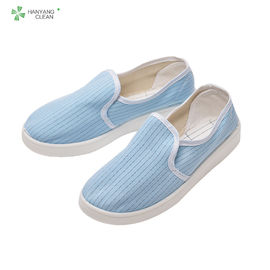 China White Blue Canvas Upper Esd Rated Safety Shoes , Womens Canvas Work Shoes Anti Static factory