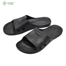 Black Anti Static Accessories Non Static Slippers For Food Industrial