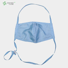 China Anti Static Food Processing Accessories , Esd Cleanroom Face Mask Eco Friendly factory