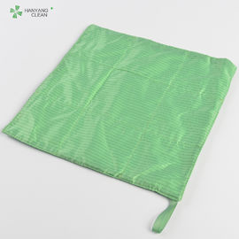 China Fabric Lint Free Clean Room Wipes Cloth ESD With 2% Conductive Fiber Material factory