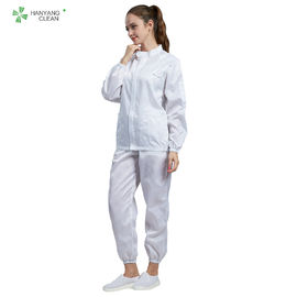 Cleanroom ESD antitatic white color garment can be autoclavable for all grade of cleanroom