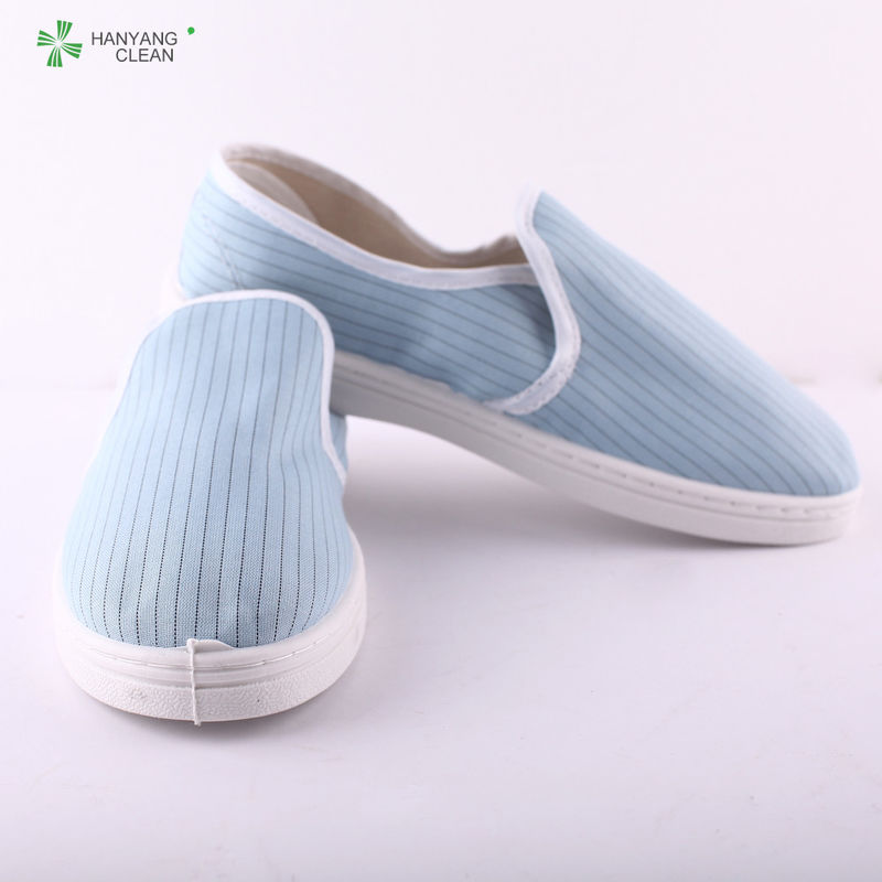 Cleanroom PVC blue antistatic slippers executive safety shoes