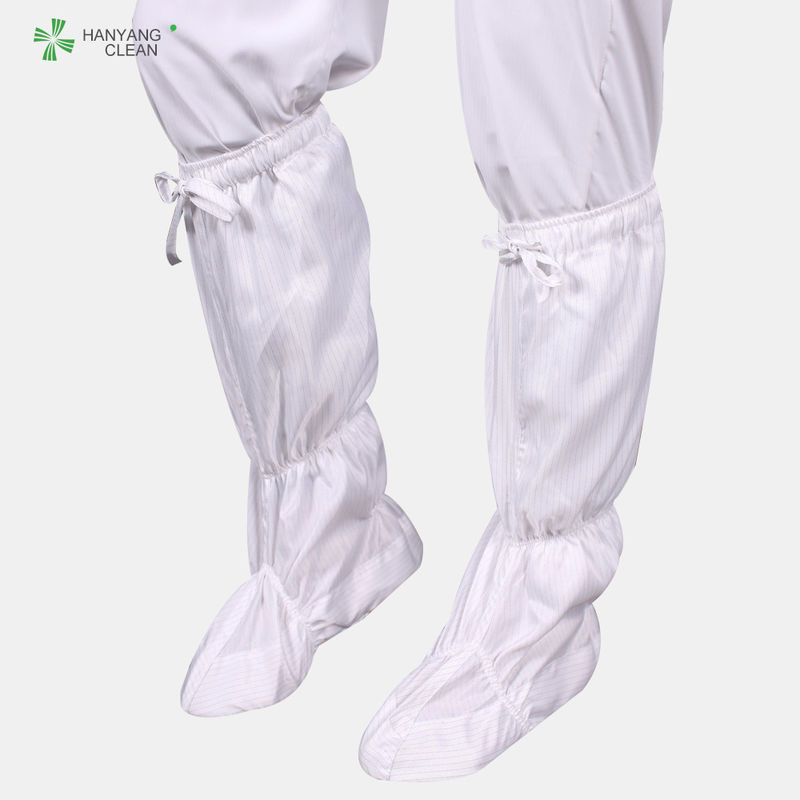 Wholesale Cleanroom antistatic esd shoe boots soft long booties white color suitable for cleanroom