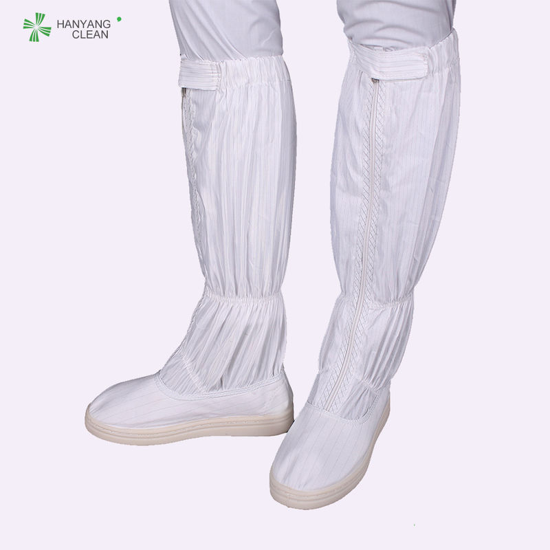 OEM medical Cleanroom autoclavable ESD Safety shoes with esd PVC outsole long antistatic booties
